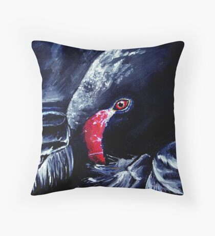 The Resting Swan Throw Pillow