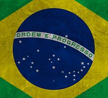 Brazilian Grunge Flag by Almdrs