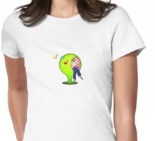Mystery - Sitting Girl Womens Fitted T-Shirt