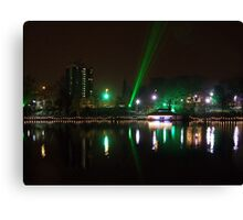 Laser Light Show Canvas Print