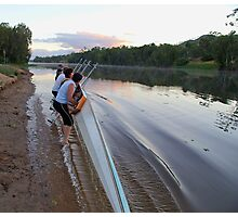 Lift together - Riverway Rowing Club Photographic Print