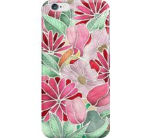 Blossoming - a hand drawn floral pattern iPhone Case/Skin