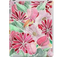 Blossoming - a hand drawn floral pattern iPad Case/Skin