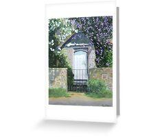 17th century cottage, Dowlish Wake, Somerset Greeting Card