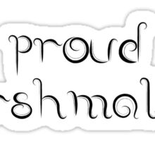 Proud Marshmallow Sticker
