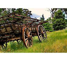 """Weathered Wagon"" Photographic Print"