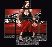Red Couch  by Danielle Schriever