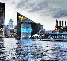 Baltimore City Inner Harbor Night Scene by 31images