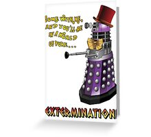 Willy Wonka Dalek Greeting Card