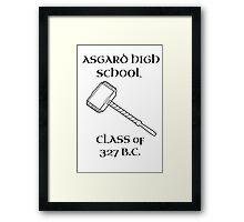 Asgard High School Framed Print