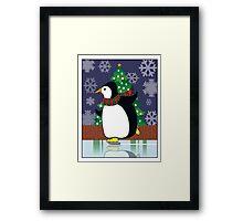 Penguin Skate Framed Print