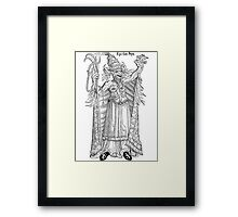 Ego sum papa - The papist devil Framed Print