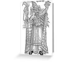 Ego sum papa - The papist devil Greeting Card