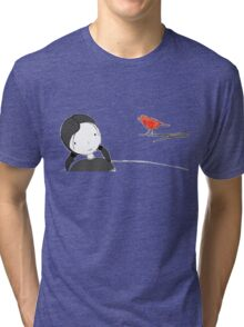 lil girl and red birdy as a tee Tri-blend T-Shirt