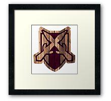 Riften Hold Shield Framed Print