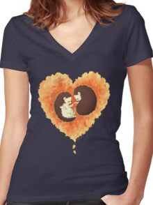 Hibernate with Me Women's Fitted V-Neck T-Shirt
