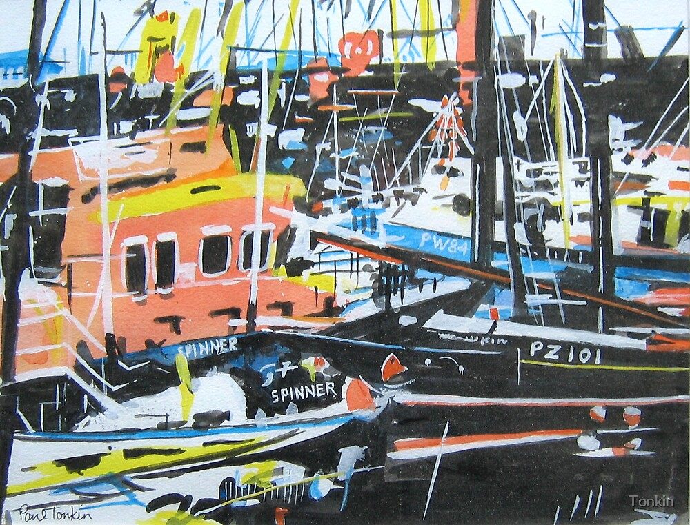 Newlyn Harbour 2, Cornwall by Tonkin