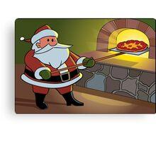 Christmas Pizza Canvas Print