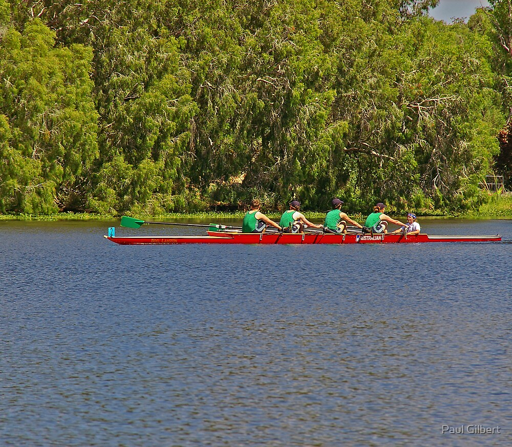 Teamwork - Riverway Rowing Club by Paul Gilbert