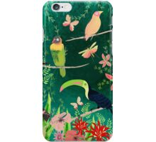 TROPICAL BIRDS (and flowers, and bugs and butterflies) iPhone Case/Skin