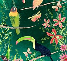 TROPICAL BIRDS (and flowers, and bugs and butterflies) by Jane Newland