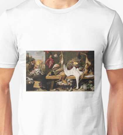 Frans Snyders - Market Scene On A Quaycirca 1635 Unisex T-Shirt