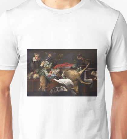 Frans Snyders - Pantry Scene With Servant Unisex T-Shirt