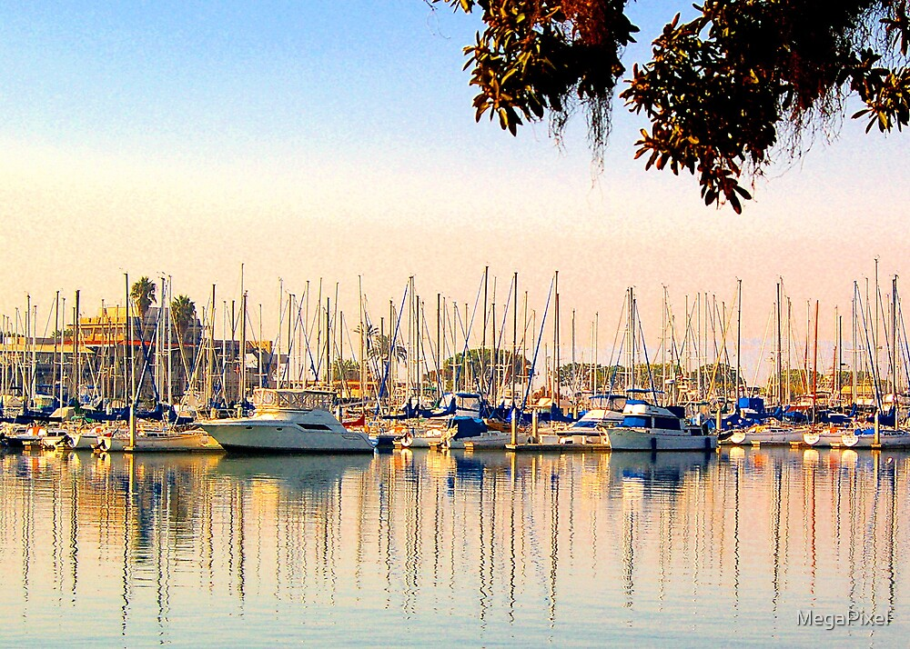 Harbor Reflections by MegaPixel