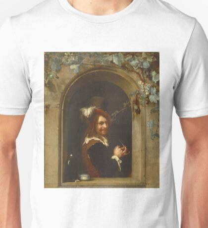 Frans Van Mieris The Elder - Man With Pipe At The Window1658 Unisex T-Shirt