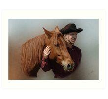 A Man and his Horse Art Print