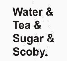 Water Tea Sugar And Scoby by Almdrs
