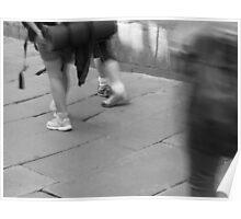 Walkers arrive in Santiago de Compostela Poster