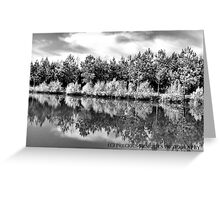 Mirror Image B&W Greeting Card