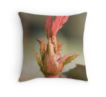 Fall rose new growth Throw Pillow