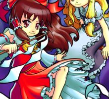 Touhou - Reimu and Marisa Sticker