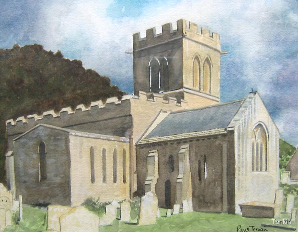 Church, Stoke-sub-Hamdon. Somerset by Tonkin