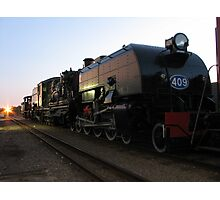 narrow gauge sunset ll Photographic Print