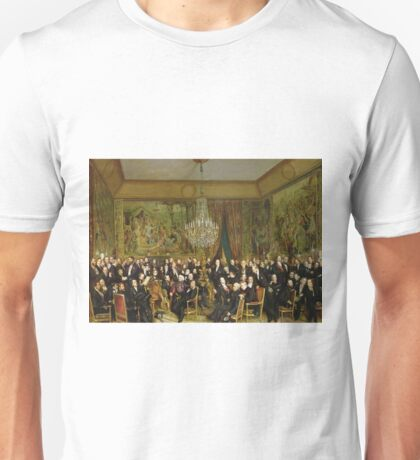 Franсois - Auguste Biard - The Salon Of Alfred Emilien, Comte De Nieuwerkerke (1811 - 92) At The Louvre Unisex T-Shirt