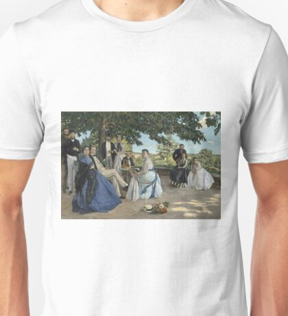 Frederic Bazille - Family Reunion, 1867 Unisex T-Shirt