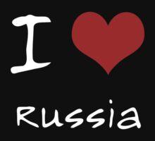 I love Heart Russia One Piece - Short Sleeve