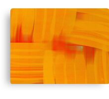 Interlaced Orange Canvas Print