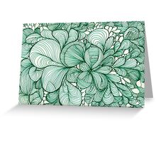 Green Lines and Shapes Greeting Card