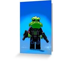 Galactic Gangster Greeting Card