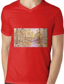 AUTUMN SCEAN Mens V-Neck T-Shirt