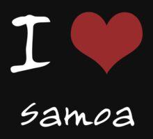 I love Heart Samoa One Piece - Short Sleeve