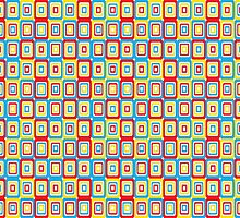Primary Retro Pattern by ArtfulDoodler