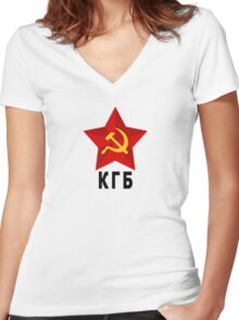 КГБ Women's Fitted V-Neck T-Shirt