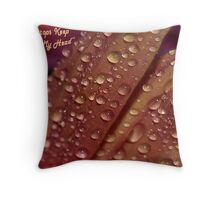 Rain Drops Keep Falling on My Head Throw Pillow