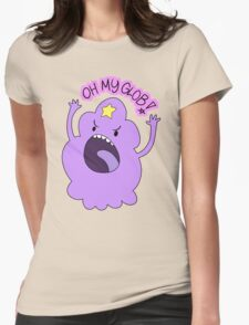 """Adventure Time - Lumpy Space Princess """"Oh My Glob!"""" Womens Fitted T-Shirt"""