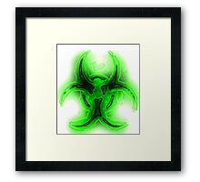 Biohazard Goo emblem Framed Print